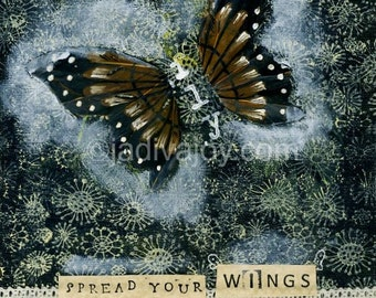 FLY-Matted Mixed Media Print (8x10 matted to 11x14)