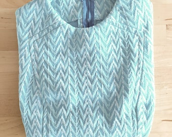 Vintage Blue Handmade 60s Short Mod Dress XS/S