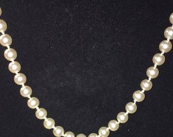 18 Inch Faux Pearl Choker, Costume Jewelry