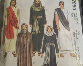 McCalls 2060 Passion Play Size Med 34-36 Costume Sewing Pattern Supply Religious Easter Christmas Nativity Jesus Mary Apostles Pilot pc