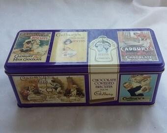 Cadbury's Chocolate Biscuits Tin Storage Collectible Cookie Container