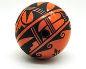 Seed Pot - Native American Pottery - Jemez Pueblo - Signed C. Loretto