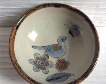 Vintage Tonala, Mexico Small Bowl.  El Palomar.  Modernist Ceramic Ken Edwards. 1960's.
