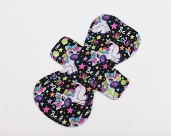 Heavy Flow Cloth Pad || Reusable Cloth Pad || Be A Unicorn || Zorb Core || Feminine Cloth Pad || Reusable Period Pads || Crunchy Mama ||