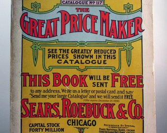 1969 reproduction of the popular 1908 Sears Roebuck Catalogue