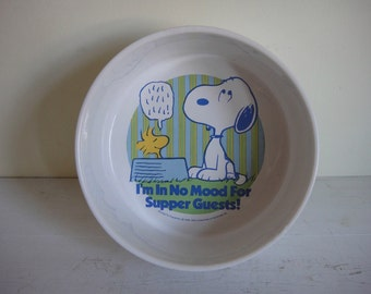 Vintage Snoopy Bowl - Another Determined Production Peanuts Bowl - Supper Guests Dish