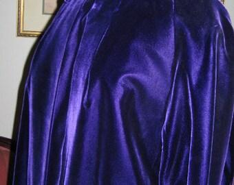1950's PURPLE VELVET OPERA Coat, Womens' Dress Coat, Formal