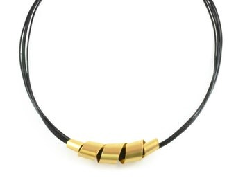 Black and Gold necklace, gold necklace, modern gold necklace, urban necklace, delicate statement necklace abstract pendant colorful necklace