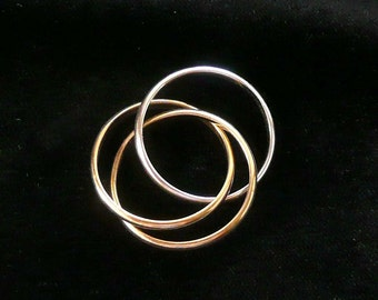 Thumb Ring Silver & Goldtone