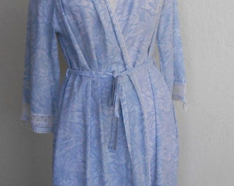 Vintage Robe Dressing Gown by Miss Dior Cotton Blend