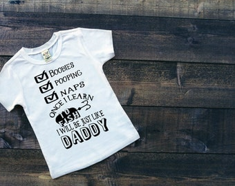 Fishing Baby Shirt - Baby Fishing Shirt - Baby Fishing Clothes - Just like Daddy - Just like Daddy outfit