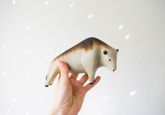 Mid Century Handmade Collectible Ceramic Bull // Peter Müller for Sgrafo