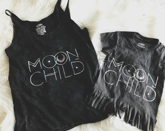 Moon Child Mommy And Me Set, Mommy and Me Sets, Twinning Sets, Mom Shirts, Matching Kid shirts, Boho Toddler, Boho Fashion, Family Set