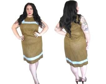 Plus Size Vintage Dress l 1960's Mod Shift Dress l Size XL l Vintage Dress