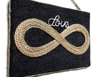 Infinity Love sign - Love in Infinity sign - Infinity wall art - Love in infinity wall hanging - Valentine's day gift - Anniversary gift