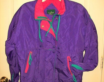 Vintage 80s Ladies Purple Pink Ski Jacket by Cabin Creek Small Only 12 USD