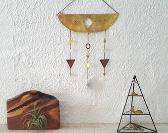 SOL Wall Hanging - Brass and Copper Geometric Wall Hanging