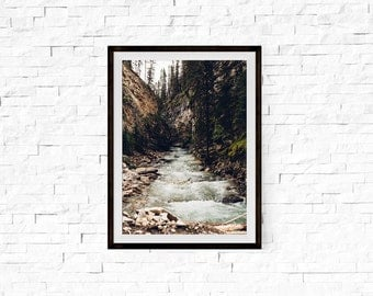 """Large Wall Art, Neutral Home Decor, Landscape Photography, Affordable Wall Art, Fine Art Photography, Travel Photography, """"Rocky River"""""""