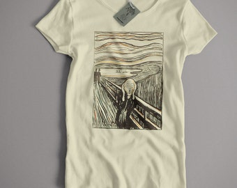 Old Skool Hooligans Edvard Munch T Shirt - The Scream Litho Version Fine Art Expressionst Expressionism S-5XL and Lady Fit Sizes Available
