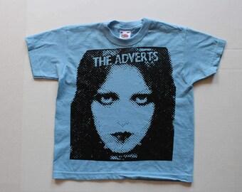The Adverts Gaye Advert-Kids Punk T-shirt -Childrens-Screenprint Tshirt- Baby Blue- Seditionaries-gift - boy Age 3-4