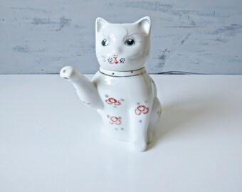 Vintage Chinese Lucky Cat Teapot, Miniature Teapot, Collectable Teapot, Decorative Teapot