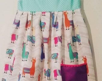 The Violet Dress with Pom Pom Pocket