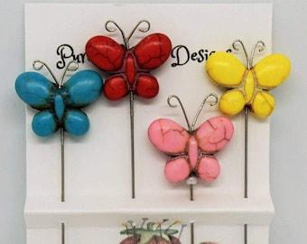 Decorative Butterfly Pins, Pincushion Pins, Scrapbook Pins, Butterfly Embellishments, Butterfly Stickpins