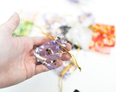 """25 Organza Bags - Assorted - Ribbon Draw Strings - 5x7cm - about 2"""" by 3""""-Ships IMMEDIATELY from California - BAG54-25"""