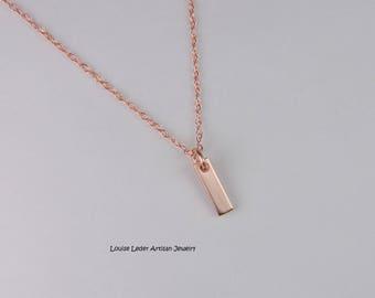 Rose Gold Necklace Dainty Rose Gold Necklace 14K Gold Necklace Rose Gold Jewelry
