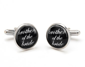 Brother of the Bride Cufflinks - Bride to Brother Wedding Gift - Sentimental Keepsake Gift for Brother - Wedding Cufflinks