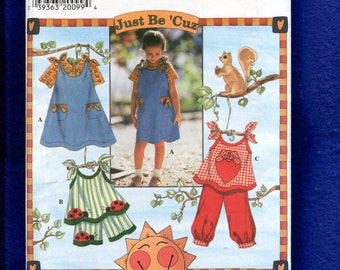 Simplicity 7571 Summer Time Play Clothes for Girls Size 5..6..7..8 UNCUT