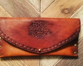 Leather wallet // small // boho style