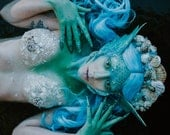 READY TO SHIP Sirens call mermaid creature fey shell headpiece headdress