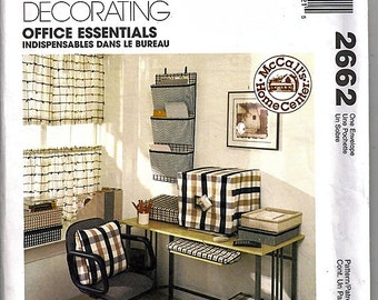 Office Essentials / Original McCall's Home Decorating Uncut Sewing Pattern 2662