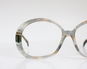 Vintage 70's Gray Marble Eyeglasses Sunglasses Frames
