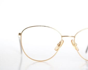 AS IS - DAMAGED Vintage Gold Wire Eyeglass Frames
