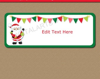Santa Address Labels, Santa Return Address Label Template, Printable  Christmas Gift Labels, Christmas
