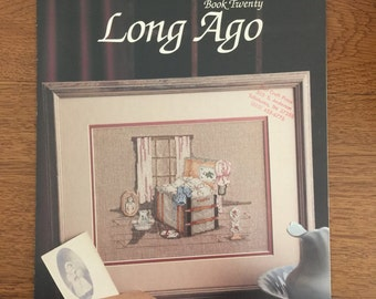 Long Ago Counted Cross Stitch Pattern by Paula Vaughan, Leisure Arts Leaflet 683 Book Twenty
