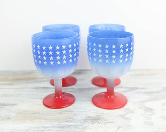 Vintage Flag Motif Beer Goblets Set (set of 4)
