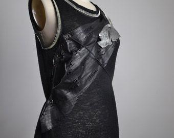 OOAK Glittery Blouse - Re-purposed Knit Top - Women's Clothing - Women's Tops - Sparkle