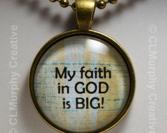 God Christian Blessings Faith Hope Custom Art Necklace Pendant Jewelry Christian Pendant Sobriety NA AA C L Murphy Creative