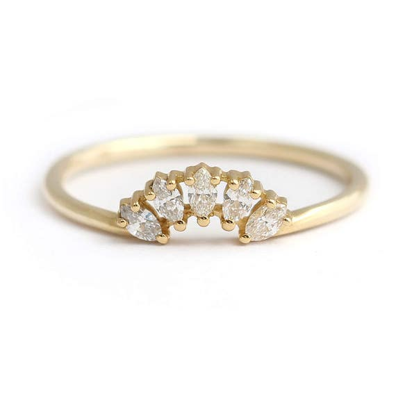 like this item - Marquise Diamond Wedding Ring