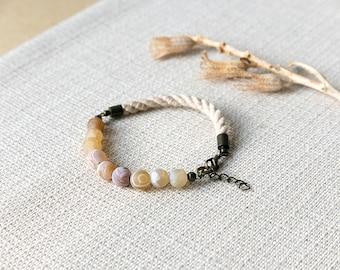 SALE - HELLAS Agate and Rope Bracelet