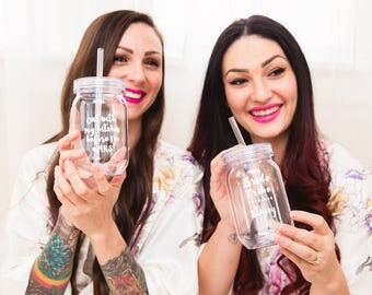 Bachelorette party cup for the bride, bride tribe mason jar tumbler, for bridal shower does this make me look engaged