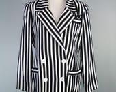 Black and White Striped B...