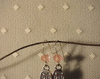 Rites #13 - Sterling Silver Headstones & Faceted Cherry Quartz