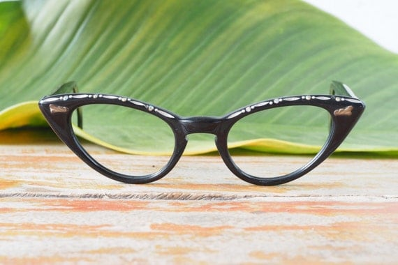 Vintage Eyeglass Cat eye glasses 1960s Frame Made In USA