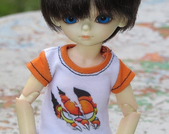 1/6 doll ~  Rrrrr 'Garfield' T-shirt |BJD | YOSD