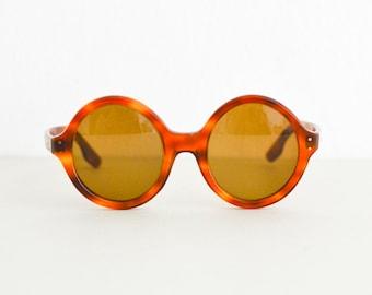 Vintage sunglasses, round brown 60s sunglasses, 60s eyeglasses