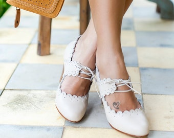PARADISE BIRD. Wedding heels / High heel shoes / leather heels / women dance shoes / boho. Sizes 35-43 Available in different leather colors